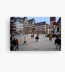 April Evening, City Centre, Frankfurt-am-Main Canvas Print