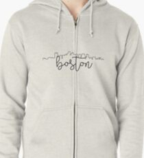 cityscape outline - boston Zipped Hoodie