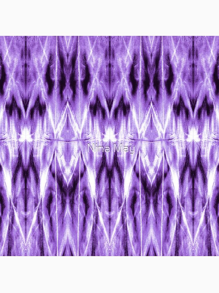 Purple Argyle Shibori by ninabmay