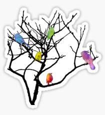 Cute Tie Dye Birdies Sticker