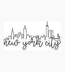 cityscape outline - nyc Photographic Print