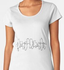 cityscape outline - fort worth Women's Premium T-Shirt