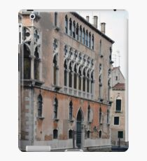Venetian building near the water with typical decorative elements  iPad Case/Skin