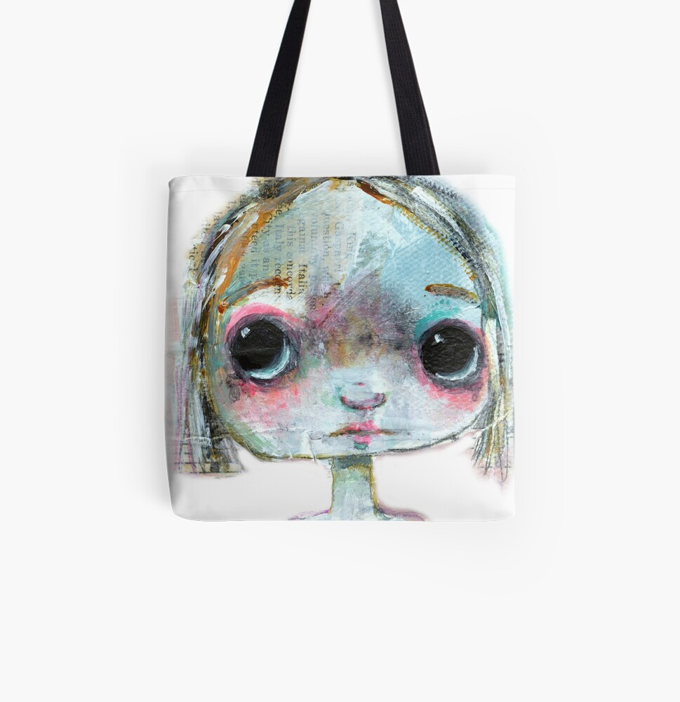 Something Big Eyed this way comes All Over Print Tote Bag