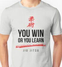 You Win or Your Learn Dark Jiu Jitsu T-Shirt