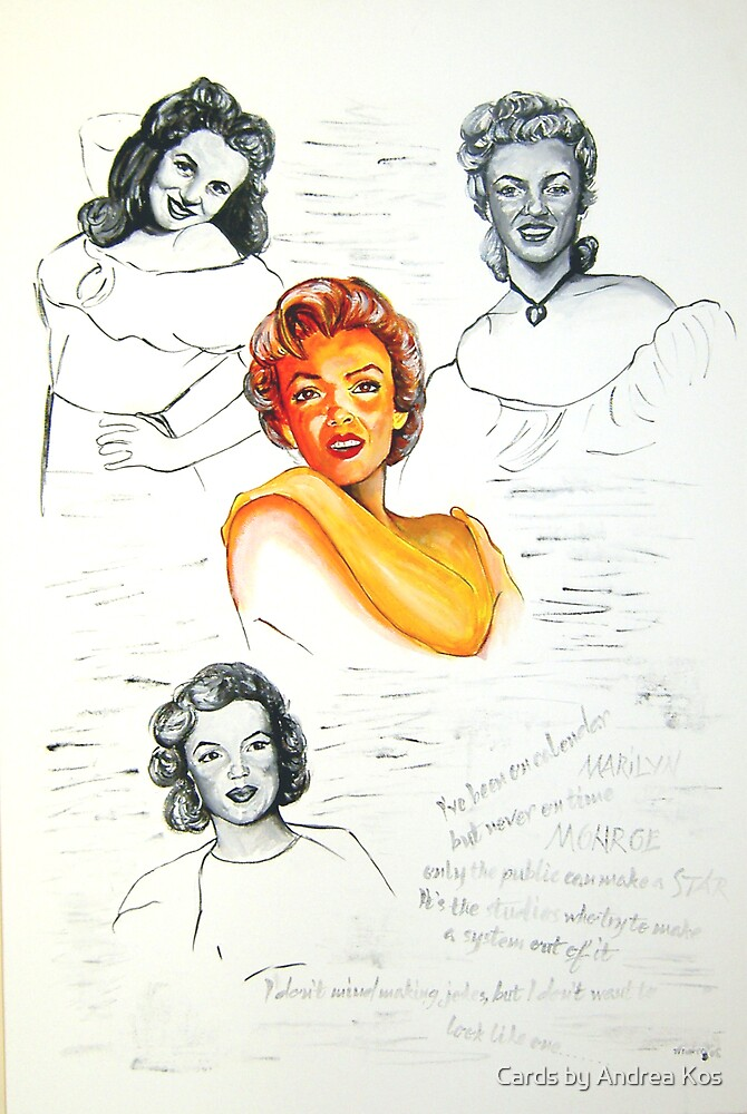Marilyn Monroe by Cards by Andrea Kos