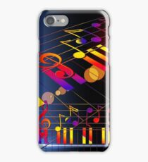 Cool Piano Shirt Accessories Rainbow Music Notes iPhone Case/Skin