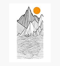 The mountains and the sea under the sun Photographic Print