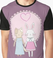 Love is never a mistake (rabbit and cat) Graphic T-Shirt