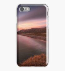 Sunset at Rhossili Bay, South Wales iPhone Case/Skin