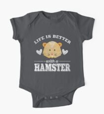 Life Is Better With A Hamster One Piece - Short Sleeve
