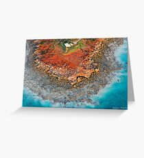 Gantheaume Point Aerial Greeting Card