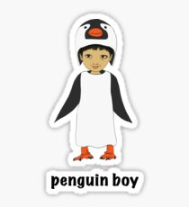Penguin boy Sticker