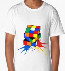 leaking rubiks cube Long T-Shirt