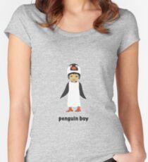 Penguin boy Women's Fitted Scoop T-Shirt