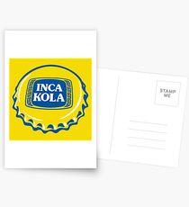 Inka Kola Aufkleber Postkarten