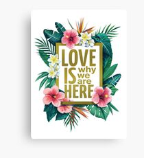 Love is why we are here Canvas Print