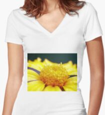 Up Close Women's Fitted V-Neck T-Shirt