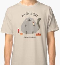 Cat on a diet Classic T-Shirt