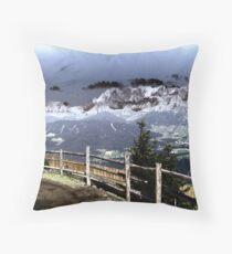 Austrian Mountains Throw Pillow