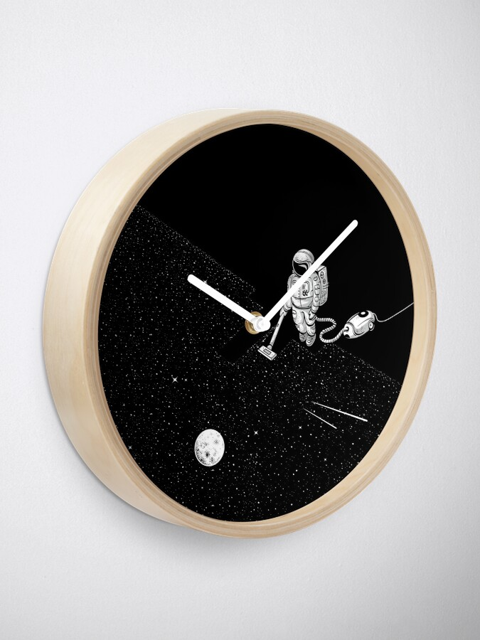 Alternate view of Space Cleaner Clock