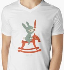 Lapin chevalier T-shirt col V homme