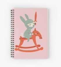Lapin chevalier Cahier à spirale