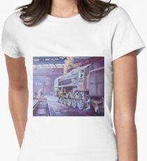 British Railways Standard 9F on Saltley turntable. Women's Fitted T-Shirt