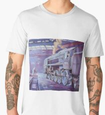 British Railways Standard 9F on Saltley turntable. Men's Premium T-Shirt