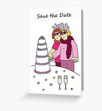 Lesbian Save the Date, wedding/civil union card. Greeting Card