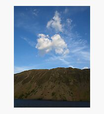 Sky, Slope, Water Photographic Print