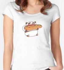 Hungry kawaii panda. Women's Fitted Scoop T-Shirt