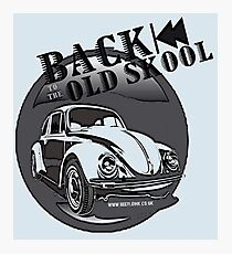 VW Beetle Back to the Old Skool Photographic Print