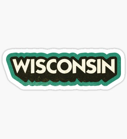 Wisconsin State Sticker | Retro Pop Sticker