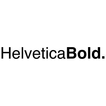 Helvetica Bold by varsitywolf