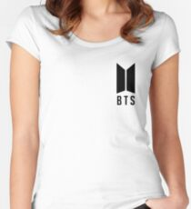 BTS New Logo - Black Women's Fitted Scoop T-Shirt