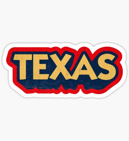Texas State Sticker | Retro Pop Sticker