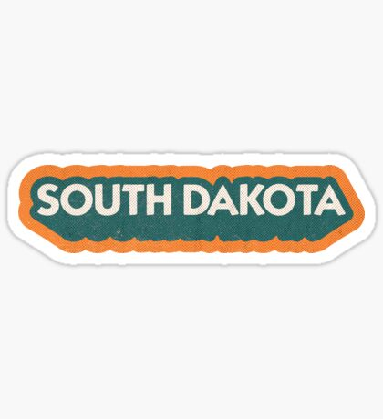 South Dakota State Sticker | Retro Pop Sticker