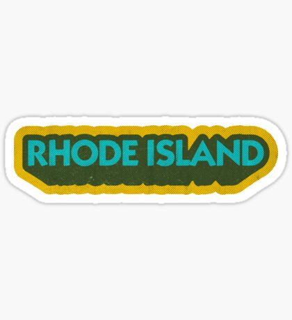Rhode Island State Sticker | Retro Pop Sticker