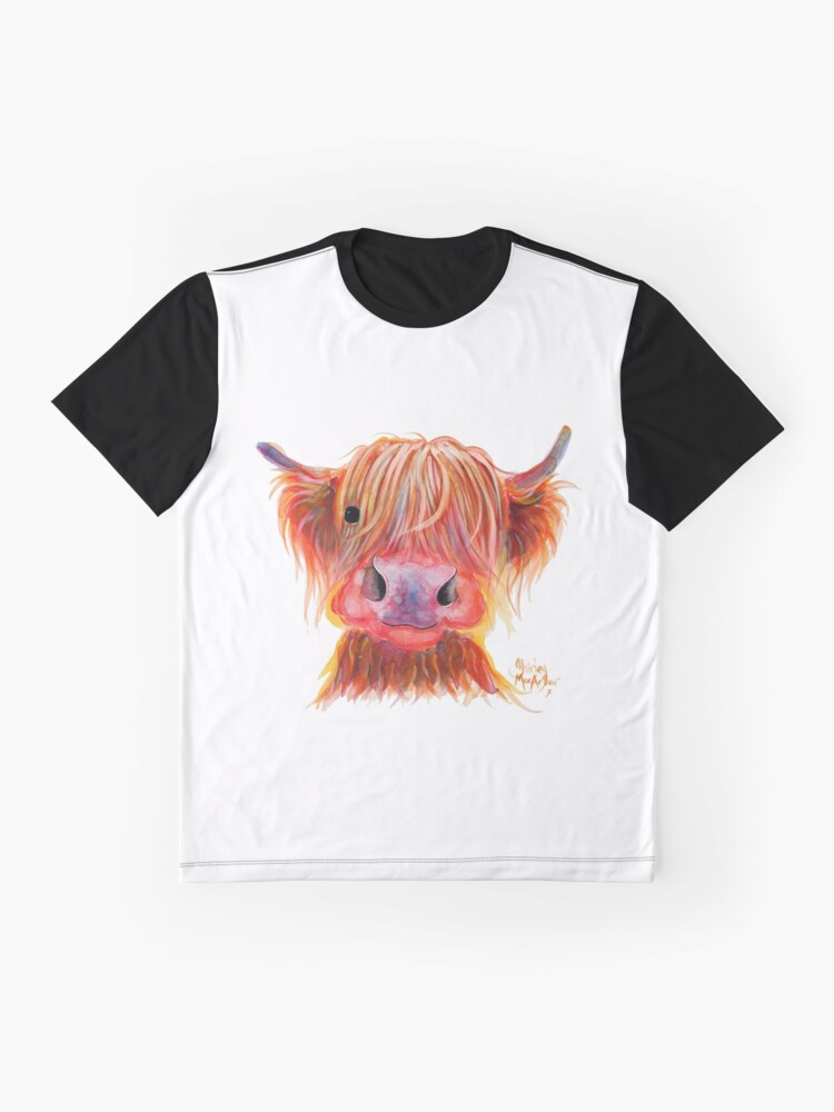Alternate view of Scottish Highland Hairy Cow ' CHILLI CHOPS ' by Shirley MacArthur Graphic T-Shirt