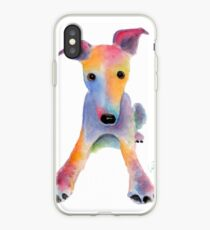 Whippet / Greyhound ' TOOTY FRUITY ' by Shirley MacArthur iPhone Case