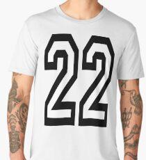 22, TEAM, SPORTS, NUMBER 22, TWENTY, TWO, Twenty Second, Competition,  Men's Premium T-Shirt