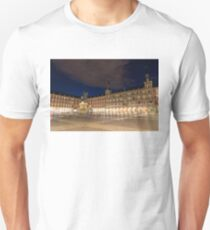 Bright Midnight - Plaza Mayor in Madrid Spain T-Shirt