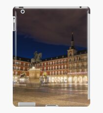 Bright Midnight - Plaza Mayor in Madrid Spain iPad Case/Skin