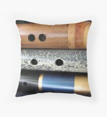 flutes Throw Pillow