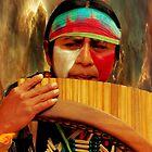 Quechuan Pan Flute Player II by Al Bourassa