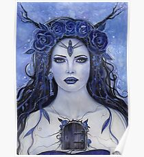 Keeper of secrets gothic woman by Renee L Lavoie Poster