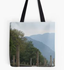 Derwentwater and the mountains from the pier Tote Bag