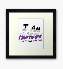 I Am Human - Asexual Pride Framed Print