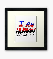 I Am Human - Polyamory Pride Framed Print